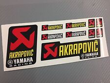 Kit 10 Adesivi Stickers AKRAPOVIC Racing Ya resistente al calore