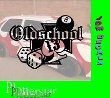 Old School Würfel Lucky Hater Aufkleber Sticker Race Raser Fun JDM OEM DUB Like