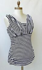 NEW!! NWT White House Black Market Striped Genius Multi way Blouse Top Sz L