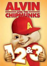 ALVIN AND THE CHIPMUNKS 1, 2 & 3 - DVD TRIPLE FEATURE - FREE SHIPPING!
