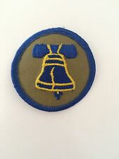 "New Embroidered Patch with LIBERTY BELL Round BLUE 2"" Children Prize Craft SCOUT"