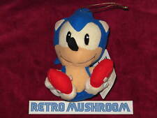 1991 JAPAN ORIGINAL SONIC THE HEDGEHOG PLUSH! SITTING FURRY CUFF ORIGINAL UFO