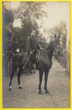 "cpa Carte Photo MILITAIRE SOLDAT du 19e Régiment "" Chasseur à Cheval ? """