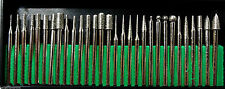 "(90 BITS) Lot of 3 Assorted 30pcs Sets Diamond Burr 1/8"" Dremel Rotary Tool SE"
