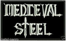 MEDIEVAL STEEL EMBROIDERED PATCH HEAVY LOAD CIRITH UNGOL KROKUS Metal Negro