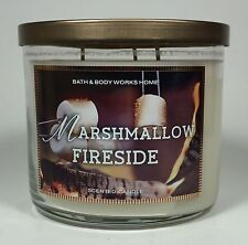 Bath & Body Works Home MARSHMALLOW FIRESIDE 3-Wick Candle 14.5 oz