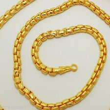 Chain 22K 23K 24K THAI BAHT GOLD GP NECKLACE 26 Inch 55 Grams 5 mm Jewelry