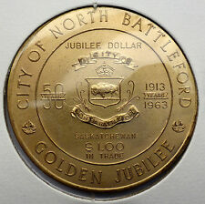 CANADA TRADE DOLLAR 1963 NORTH BATTLEFORD SASKATCHEWAN GOLDEN JUBILEE