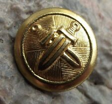Czechoslovakia Army Armed Forces Military Crossed Sword Uniform Eye Button 1.6cm