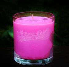 PINK PEONY PETALS 900g TRIPLE SCENTED FLORAL SOY JAR CANDLES with SNUFFER 150hr