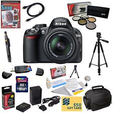 Nikon D3100 Digital SLR Camera w 18-55mm VR Nikkor Zoom Lens & Best Value Bundle