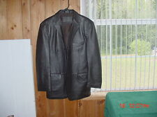 Stafford Executive Brown Lambskin 100% Genuine Leather Coat Jacket M TX Estate