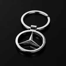 2pcs Hollow Car Logo Creative Keychain Metal Keyring Gift For Mercedes-Benz