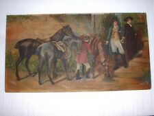 "ANTIQUE OIL PAINTING SIGNED AFTER SAMUEL EDMUND WALKER ""TWIXT LOVE & DUTY"""