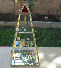 Glass Brass & Mirror Display Case Curio. Standing And Hanging. (121607)