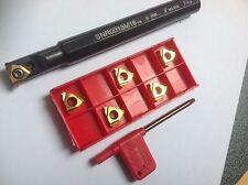 1 x Gewinde-Bohrstange mit 5 Stück 16er ISO-Gewindeplatten!!  NEU!!