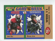 1995 Pro Line Game of the Week #V14 Jerry Rice / Michael Irvin