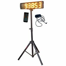 "Yellow 5"" Large LED Race Timing Clock Countdown/up Timer With Tripod IR Remote"