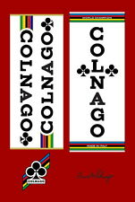 Vintage Colnago Super Mexico Decals Autocollants Transfers UV Laminated