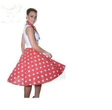 "POLKA DOT SKIRTS 26"" LONG ROCK & ROLL AND FANCY DRESS PARTIES."
