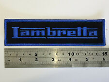 Lambretta Large BAR (BLUE Border/Text) Patch - Embroidered - Iron or Sew On