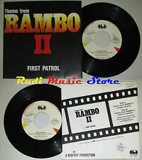 LP 45 7'' FIRST PATROL Theme from RAMBO II 1985 italy CGD INT 10638 cd mc dvd*