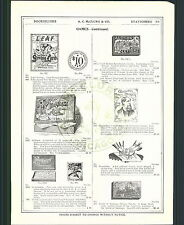1901 02 ADVERT Characters From Dickens Game Battle Santiago Puzzle Wall Street
