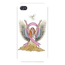 Angel & Dove Breast Cancer Awareness - FITS iPhone 5 5s Plastic Snap On Case