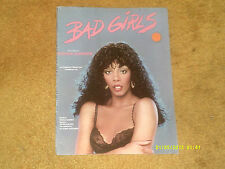 Donna Summer sheet music BAD GIRLS 1978 7 pp. (VG+ shape)