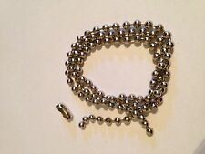 ROLLER / ROMAN BLIND METAL NICKEL BEADED CHAIN  - 4.5MM BALL - BLIND SPARE PARTS