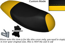 BLACK & YELLOW CUSTOM MADE FITS SYM JET 4 125 DUAL LEATHER SEAT COVER