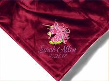 Personalized Monogrammed Throw Blanket w/ Embroidery. 57 Design to Choose From!!