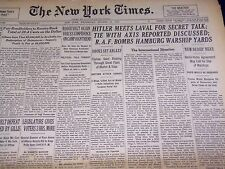1940 OCTOBER 23 NEW YORK TIMES - HITLER MEETS WITH LAVAL - NT 2928