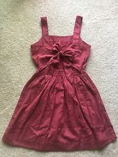 Authentic Madewell Apron bow-back dress Size 2, Antique rose $118.