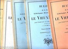 Bulletin de la société archéo historique Le vieux Papier X6 1937-1938 n°122-127