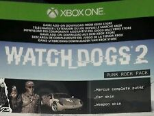 XBOX One Watch Dogs 2 DLC Punk Rock Pack Customisation Skins Weapon Car Outfit