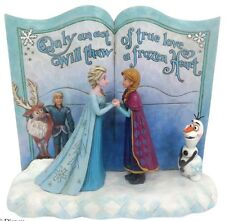 Disney Traditions Act of Love Frozen Storybook Anna Elsa Olaf Figurine 4049644