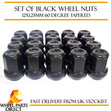 Alloy Wheel Nuts Black (20) 12x1.25 Bolts for Subaru Pleo [Mk1] 98-09