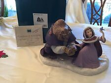 "WDCC Beauty and The Beast ""She Didn't Shudder at my Paw"" LE Autographed by Belle"
