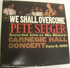 1963 PETE SEEGER WE SHALL OVERCOME LIVE 33 1/3 RECORD ALBUM P133