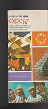 Expo 67 Montreal Special Preview Brochure Canadian International Exhibition