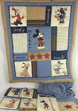 Disney Mickey Mouse & Friends Nursery Bedding Decor Quilt Curtains Crib Skirt
