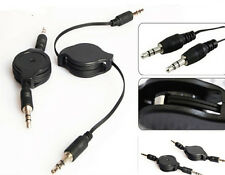 1Pcs 3.5mm Black Retractable Cable Aux Retractable Auxiliary Cord For Car MP3 CH