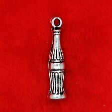 6 x Tibetan Silver Coca Cola Bottle Juice Drink Charm Pendant Jewellery Making