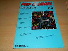POP E-Orgel Hit Album - Nr. 83 - Noten und Text - Sikorski