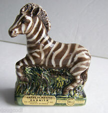 Vtg Garnier France Creme De Menthe Zebra Figurine Bottle Made In Italy 2 Ounces