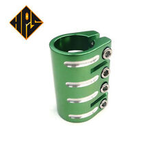 HPS PRO SCOOTER GREEN 4 BOLT QUAD CLAMP FOR STANDARD SIZE BARS ONLY STUNT