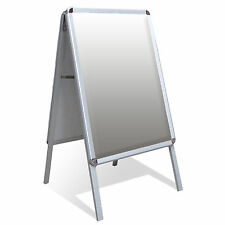 A2 A-Board Pavement Sign Poster Snap Frame Display Stand Advertising Shop Boards