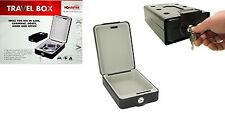 PORTABLE TRAVEL BOX SAFE BOX STAGNO per Caravan Auto Camion Barca Wall Mounted Cash