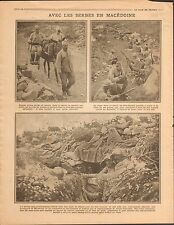 Serbia Soldiers in Macedonia Macedonie Soldats de Serbie/ Bulgaria War 1916 WWI